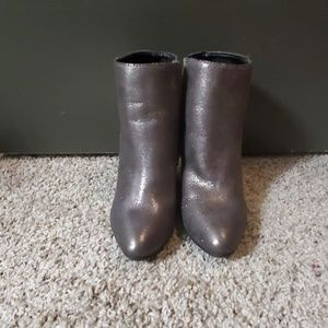 Pewter ankle boots